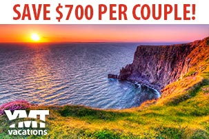 Save $700 per couple on a 12-Day Escorted Tour of Ireland