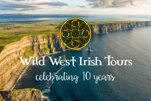Celebrate our 10th Anniversary in the Wild West of Ireland Book now  save 8Nts 4Star BB with Irish B