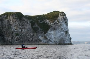 Paddle around the Iron Islands out from Lordsport Harbour with Causeway Coast Kayaking Tours from 60
