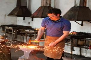 Take part in a BlackBladesmithing Class or Demonstration at Hot Milk Forge Co Antrim from 20 pp