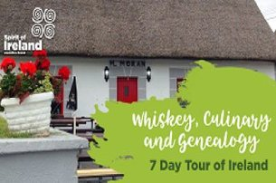 A perfect combination of a Whiskey Culinary  Genealogy Tour of Ireland with Spirit of Ireland Execut