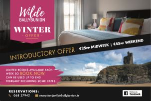 See the Wild Atlantic Way with a Winter Introductory Offer with Wilde Ballybunion Co Kerry from 2500