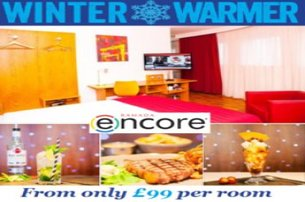 Take time out this Winter with a Winter Warmer stay with Ramada Encore Belfast City Centre from 99 p