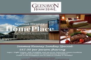 Take advantage of the Seamus Heaney Sunday Special with BB and evening meal with Glenavon House Hote