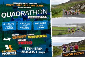 Take the challenge at the Quadrathon International Festival QUEST 4 Half Marathons with Extreme Nort