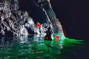 Take to the water for a Sea Cave Kayaking Experience for One with The Irish Experience Co Wexford fo