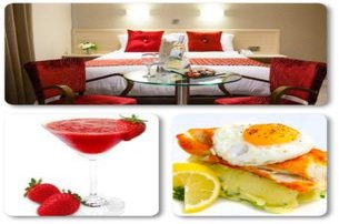 Enjoy an overnight stay for two people with Full Irish Breakfast Dinner Duvet Daiquiri  Dance with T