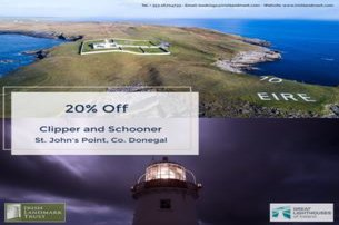 Enjoy a unique stay at St Johns Point in Co Donegal with Irish Landmark Trust using the 20 off Speci