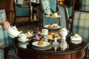Indulge in Afternoon tea in Sugar Loaf Lounge Powerscourt Hotel Resort  Spa Co Wicklow for 45pp55pp