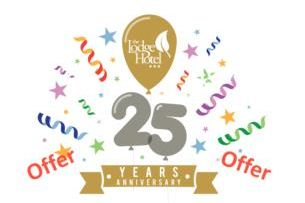 Take advantage of the 25th Anniversary Room Sale with The Lodge Hotel Co Lderry from 25 pps