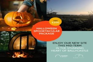 Halloween Glamping Pod Package  Stay in Ballycastle Co Antrim for 200 per night per pod 2 adults  2