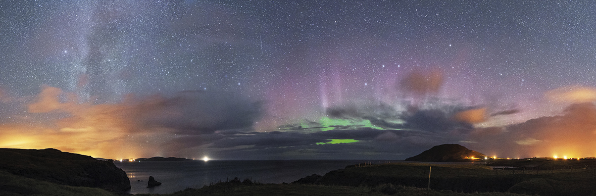 Northern Lights over Urris, County Donegal