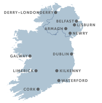 Map Of Southern Ireland Cities.Ireland S Cities Ireland Com