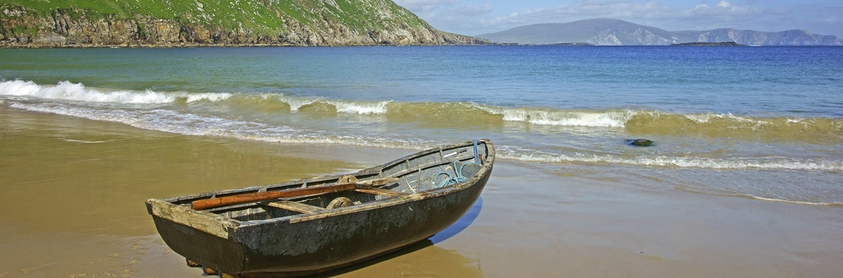 Currach fishing boat, Keem Bay © Shutterstock