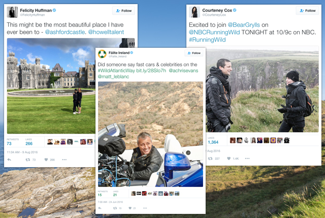 Felicity Huffman, Matt LeBlanc and Courteney Cox on the Wild Atlantic Way
