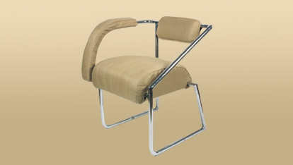 A chair by the designer Eileen Gray