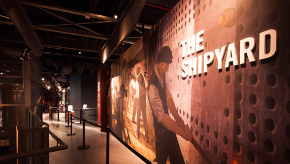 The Shipyard experience at Titanic Belfast