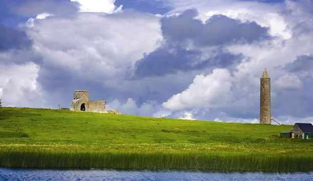 The round tower on Devenish Island, County Fermanagh