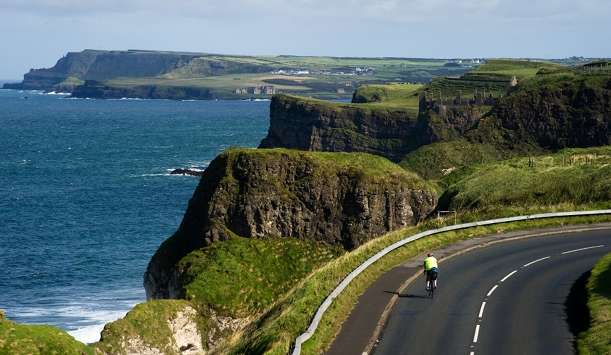 Cycling along the north Antrim coast