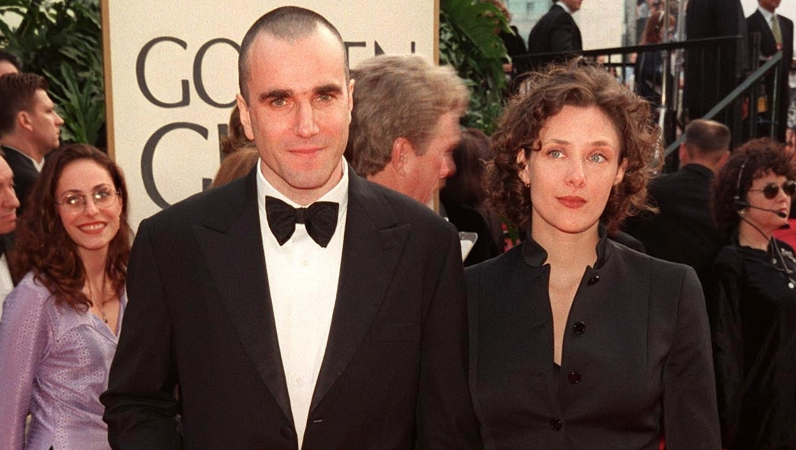 Daniel Day-Lewis with his wife Rebecca Miller at the Golden Globe Awards
