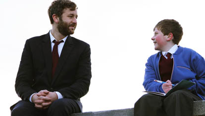 Chris in scene from Moone Boy