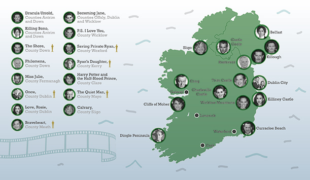 Ireland On Screen Map
