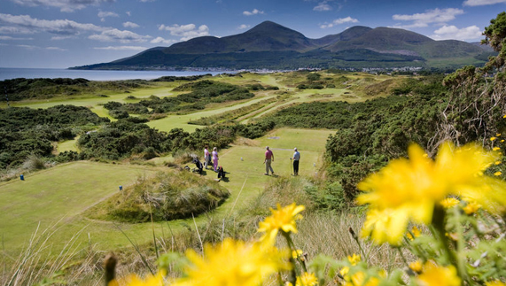 Royal County Down Golf Club, overlooking the Mourne Mountains