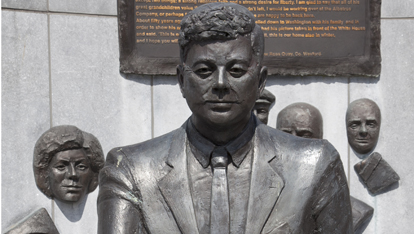 JFK statue in New Ross County Wexford