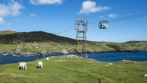 Dursey Island cable cart, County Cork