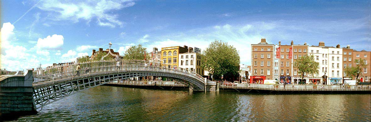 Le pont Ha'penny Bridge de Dublin