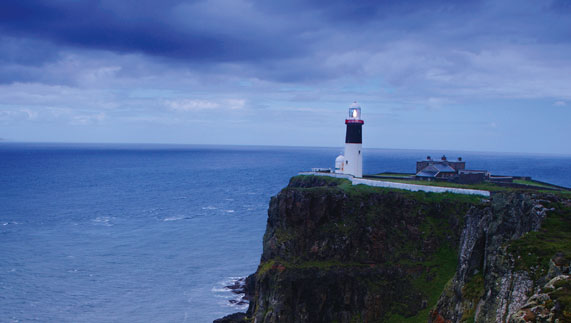 A lighthouse on Rathlin Island