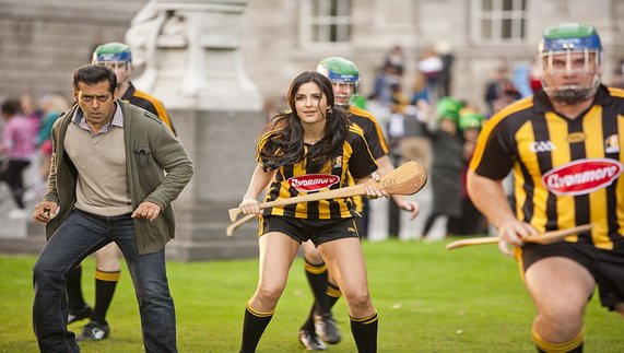 Tiger and Zoya in 'Ek Tha Tiger' playing the traditional Irish game of hurling