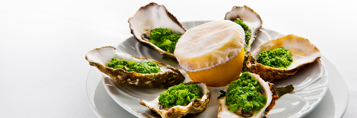 Oysters Rockefeller in Cliff Townhouse