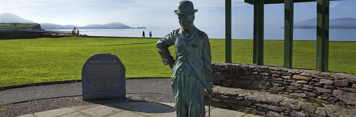 Charlie Chaplin Statue, Waterville, County Kerry