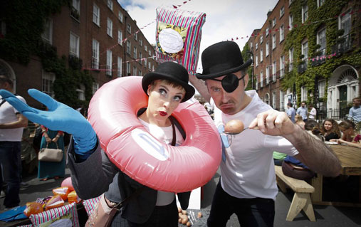 Bloomsday shenanigans, Dublin city