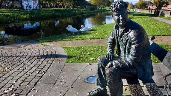 Brendan Behan Statue in Dublin City Centre