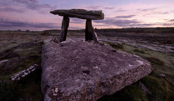 Dolmens in the Burren, also known as 'Leaba Diarmiud agus Grainne' after the mythical couple.