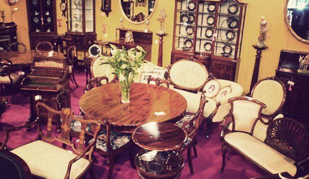 Inside David Wolfenden Antiques, County Antrim