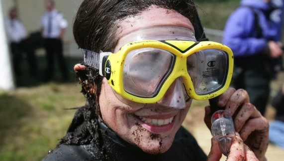 Bog snorkelling, Peatland Park, Dungannon, County Tyrone