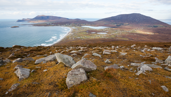 View of Slievemore, Achill Island, County Mayo