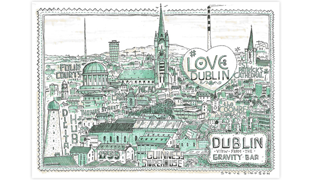 View of Old Dublin by Steve Simpson