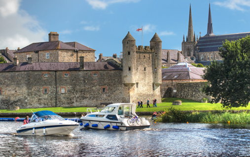 Cruising by Enniskillen Castle, Lough Erne