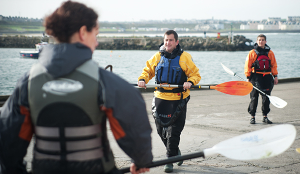 Kayaking at Portrush, County Down