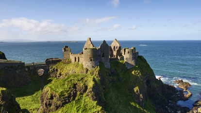 Dunluce Castle on the north Antrim coast