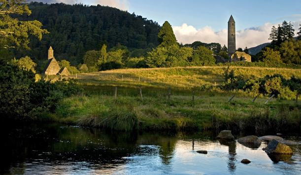 The monastic site of Glendalough, County Wicklow